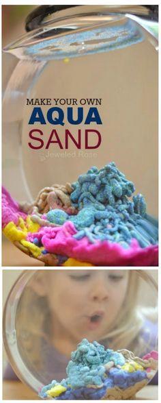 Make your own AQUA SAND: so easy & so fun!