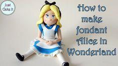 How to make fondant Alice in Wonderland / Jak zrobić figurkę Alicji z Kr...
