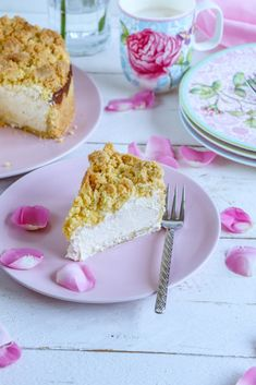 Käsekuchen mit Streuseln Rice Krispie Treats, Rice Krispies, Vanilla Cake, Desserts, Food, Muffins, Baked Goods, Tailgate Desserts, Deserts