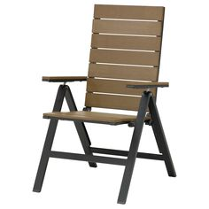 FALSTER Reclining chair - black/brown - IKEA $99 whole thing is plastic and aluminum