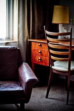 Original mid-century furniture throughout the interior
