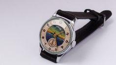 POBEDA Soviet wrist watch made in USSR 1953 by OldGoodTimes, $69.00