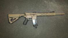 AR15 done in MagPul Flat Dark Earth & Graphite Black