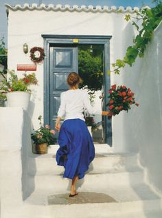 """Vacances En Grece"", early 90s /    Photographer : Hans Feurer / Model : Karen Mulder"