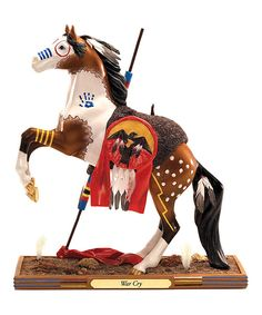Take a look at this War Cry Horse Figurine on zulily today!