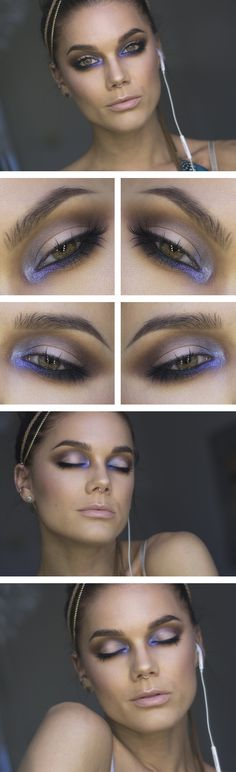 "Pretty pop of purple for your eyes. Try Stila's Eye Shadow Palette in ""In the Moment"" ($39.00), crcmakeup.com"