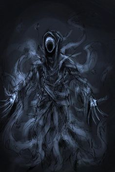 Banshee, mythical creature illustration. LOOKS LIKE A DEMENTOR!!!