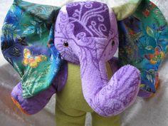 Home Decor ELEPHANT Butterflies de Luxe  Aura by TALLhappyCOLORS