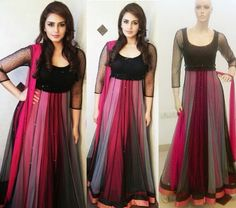 Pretty magenta pink and black combo <3