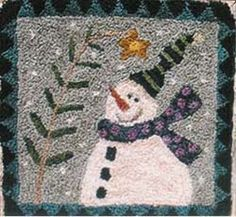 Punch Needle Snowman.....have it..made it...love it