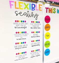Display rules and procedures for your flexible seating classroom!