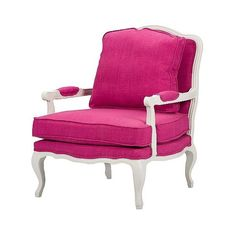 Antoinette Classic Antiqued Fabric French Accent Chair Pink ($664) ❤ liked on Polyvore featuring home, furniture, chairs, accent chairs, chair, pink, baxton studio chair, fabric arm chair, pink chair and upholstered arm chair