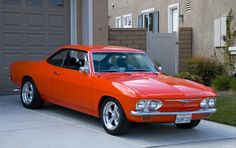 corvair | 1965 Corvair 500 Coupe - orange - 2fvr - AACA Photo Gallery
