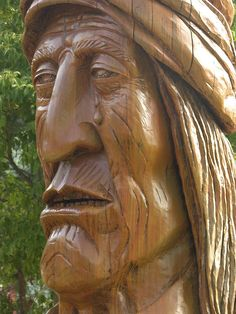 Statue of Sequoyah on the Cherokee Indian Reservation, North Carolina