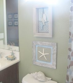 coastal designed bathroom | The reason this photo is all blurry at the top is there is a square ...