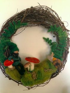New into shop! Forest Gnome Wreath!
