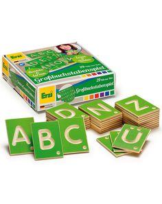 Holz-Lernspiel Großbuchstaben von Erzi ✔ Kompetenter Service ✔ Jetzt bei tausendkind kaufen!
