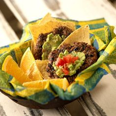 Southwestern Black Bean Cakes with Guacamole - Fitnessmagazine.com
