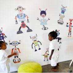 Construye tu Robot - Vinilos infantiles Otros Mundos- Bebabe - Vinilos infantiles de Tela – Bebabe