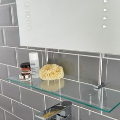 Combine style with efficiency with an Illuminated LED Bathroom Mirror that comes complete with a glass shelf. Clear away clutter from the basin and make your bathroom routine that little bit easier!