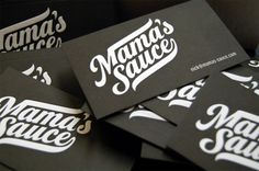 Mama's Sauce Business Cards - Popular print shop among designers (letterpress and & screen printing)