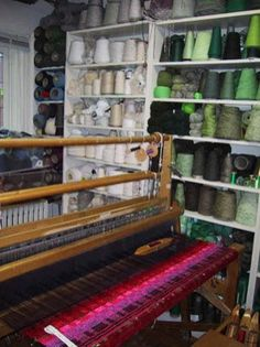 I'd love to have a yarn stash like that!