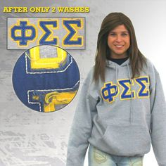 Vintage Phi Sigma Sigma Sorority Hoody.  Only available at http://somethinggreek.com/shop