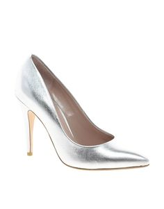 Image 1 of Dune Attar Silver Pointed Court Shoes