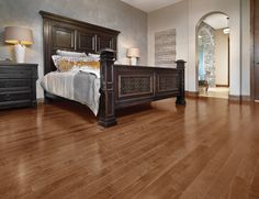 Mirage Floors, the world's finest and best hardwood floors. Yellow Birch North Hatley #mirage #bedroom #hardwood #yellowbirch #northhatley