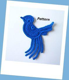Blue Bird Crochet Pattern | YouCanMakeThis.com