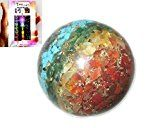 nice New Chakra Layer Gemstone Orgone Sphere Ball Chakra Unique Cleansing Crystal Gemstones Copper Metal Mix Rare Healing Positive Energy Tetrahedron Sacred Geometry Memory Concentration Meditation Spiritual Psychic Piezo Electric Effect Business Massage Ball Therapy Prosperity Success Destress Anxiety Disorder Love Power Mental Peace Strength Divine X-mas Mother's Day Father's Day Thanks...