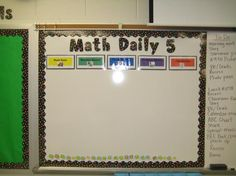 Daily 5 for Math-who knew!!