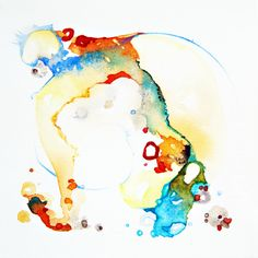 Abstract Watercolor Elephant Art Turquoise by ShellyPorterArtworks Turquoise Wall Art, Abstract Watercolor Art, Abstract Paintings, Elephant Wall Art, Rustic Art, Flower Art, Illustration Art, Watercolours, Art Techniques