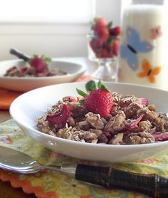 The Spunky Coconut: Vanilla Almond Strawberry Granola / Cereal (gluten-free, refined sugar-free, dairy-free)