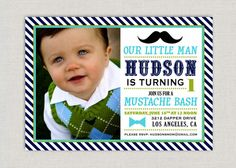 Little Man Birthday Party Invitation By Announcingyou On Etsy 15 00