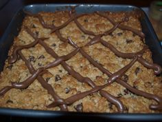 chocolate chip oatmeal squares