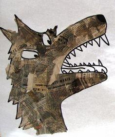 loup en papier journal déchiré                                                                                                                                                                                 Plus