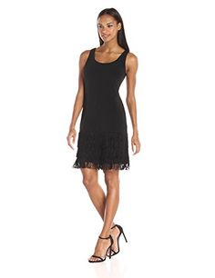 Calvin Klein Womens Sleeveless Dress with Frindge AT Bottom Black 8 *** Want to know more, click on the image. Note: It's an affiliate link to Amazon.