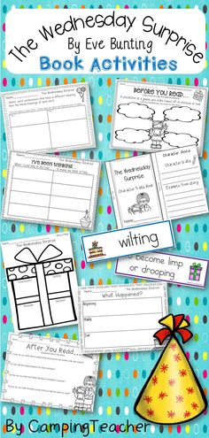 This product is a book activities set for The Wednesday Surprise by Eve Bunting… Idioms Activities, Predicting Activities, Reading Resources, Reading Activities, Text To Self Connection, Eve Bunting, Making Predictions, 4th Grade Reading, Thing 1