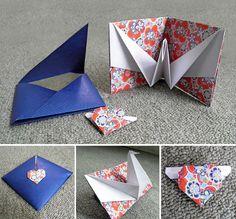 origami - tarjeta paloma con sobre