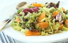 CELERY CITRUS SALAD WITH BALSAMIC AND FETA    Crunchy celery contrasts with sweet, tender citrus in this lovely salad that perfectly exhibits how a touch of highly flavorful ingredients--balsamic vinegar and feta--can elevate a dish without adding too much in the way of fat or sodium.
