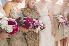 Photography: Lauren Fair Photography - laurenfairphotography.com/  Read More: http://www.stylemepretty.com/2014/03/13/gold-sparkly-kimmel-center-wedding/