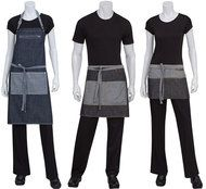 Restaurant aprons including waist, waitress, kitchen, waiter, and custom aprons. We've just added even more styles and colors of restaurant server aprons. Cafe Uniform, Waiter Uniform, Uniform Shop, Hotel Uniform, Restaurant Aprons, Restaurant Uniforms, Restaurant Service, Waitress Apron, Staff Uniforms