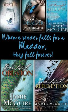 """""""When a reader falls for a Maddox, they fall forever."""" This is so true! Find out what it is about the Maddox boys that have ME hooked! Great Books To Read, I Love Books, Good Books, My Books, Beautiful Disaster, Beautiful Oblivion, Beautiful Series, Jamie Mcguire, Book Boyfriends"""
