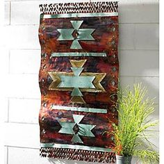 A stunning piece of art available from the King Ranch Saddle Shop. Crafted by a gifted Arizona native, this waving copper sculpture has contrasting colors that capture the beauty of a summer sunset. Copper Wall Decor, Rustic Wall Art, Unique Wall Art, Wall Art Decor, Rustic Decor, Rustic Design, Southwestern Home Decor, Southwestern Decorating, Southwest Art