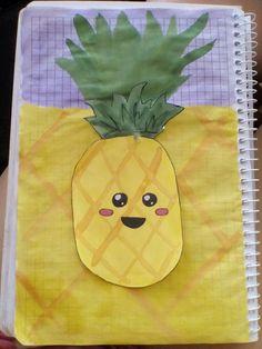 Как нарисовать красивый летний рисунок в блокноте в клеточку. Лето ягоды арбуз ананас кавайный!