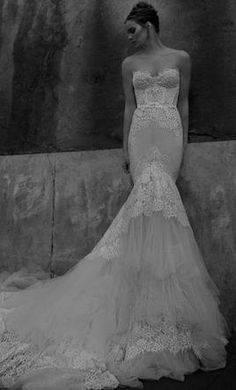 How to do the 'fish tale' style wedding gown by Inbal Dror