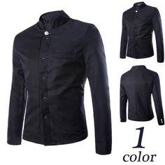 Tunic Style Asian Men Black Blazer Jacket | Sneak Outfitters Blazer Jacket, Leather Jacket, Hollywood Fashion, Blazers For Men, Asian Men, Dress Shirts, Tunic, Monochrome, Casual