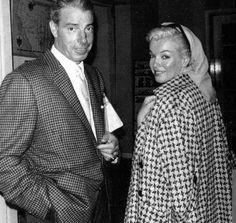 Marilyn Monroe and Joe DiMaggio in Florida, March 1961.