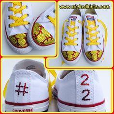 397b0482994 Softball Bling Converse Shoes. Women s Softball Rhinestone Softball Shoes